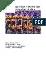 Carib Studies IA 2014- Sports , Jamaica