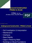 Underground Construction Pitfalls to Avoid