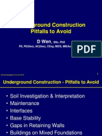 Underground Construction Pitfalls to Avoid