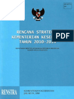 Indonesian Minstry of Health Strategic Plan 2010-2014