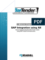 Integration Between SAP AII to Barcide Printer