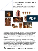 De Ce Foloseau Anticii Vase de Cupru