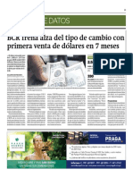 BCR Frena Alza Del Tipo de Cambio Con Primera Venta de Dólares en 7 Meses_Gestión 25-09-2014