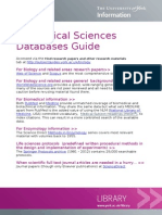 Biomedical Sciences Databases Guide