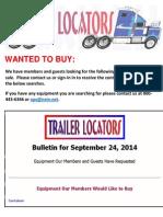 Bulletin - September 24, 2014