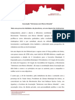 """Comunicado sobre a constituição da Associação """"Sintrenses com Marco Almeida"""""""