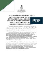 Intervención Sesión Extraordinaria Urgente Del 19 de Diciembre Del 2 014