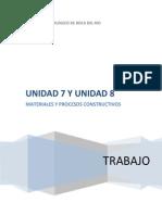 Materiales y Procesos de Contruccion Unidad 7 y 8
