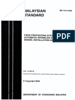 MS1910-2006 Fixed Firefighting Systems - Automatic Sprinkler System - Design Installation and Maintenance