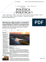 22-09-14 Rechazan diputados comisión especial por nuevo aeropuerto - Grupo Milenio