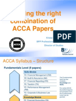 Choosing the Right Combination of ACCA Papers