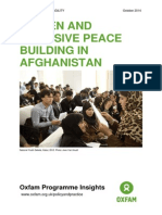 Women and Inclusive Peace Building in Afghanistan