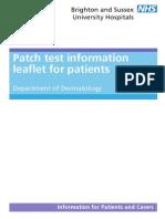Patch Test Information Leaflet