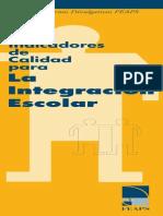 Indicadores Calidad Educacion Integracion Escolar