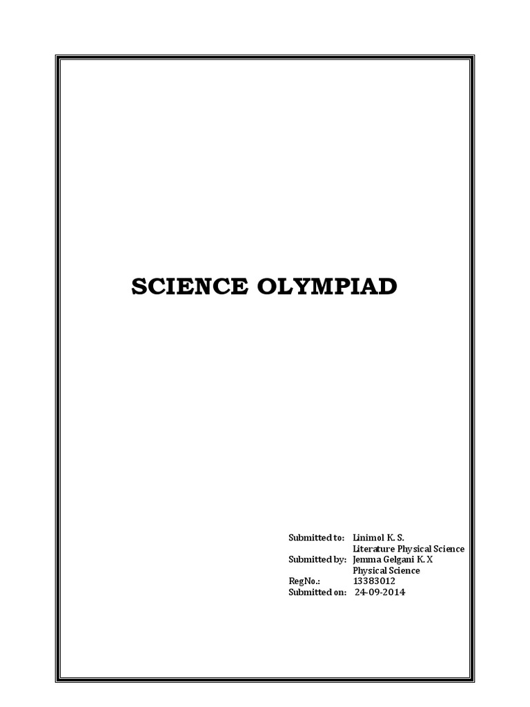 Science Olympiad | Science | Nature