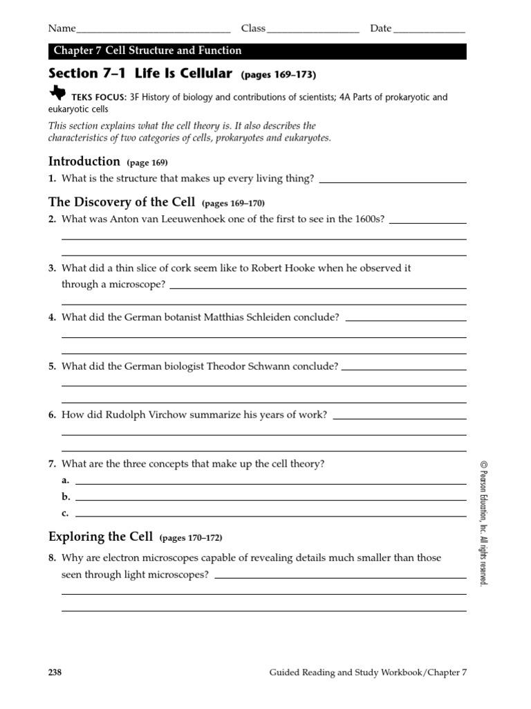 chapter 71 cells worksheet cell biology organisms