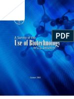 A survey of the use of biotechnology in U S  industry, 2006