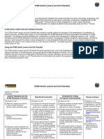 STEM Centric Unit and Lesson Checklist