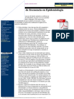 Medidas de Frecuencia en Epidemiologia