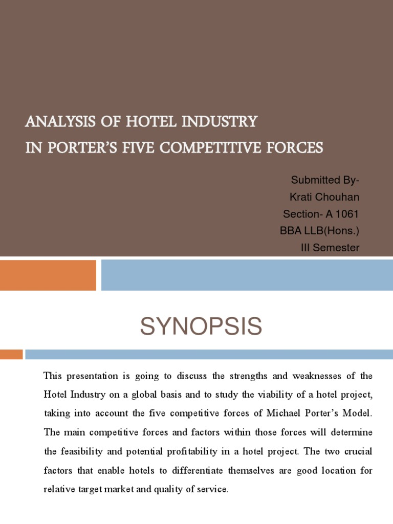 porter five forces analysis for hotel industry