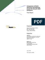 Life Cycle Analysis Tiax Final Report