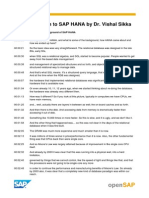 Help.sap.Com OpenSAP HANAINTRO1 OpenSAP HANAINTRO1 Transcripts
