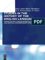 Variation and Change in English Grammar and Lexicon - Contemporary Approaches (Eds. R.a.cloutier&a M Hamilton-Brehm&W.a.kretzschmar, Jr)