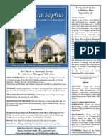 Santa Sophia Bulletin 28 Sept 2014