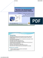 Curso Fundamentos de Controle e Processos - Prof. Timóteo