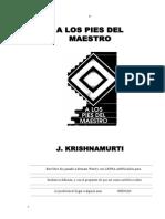 A Los Pies Del Maestro Krishnamurti