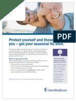 UHC Flu Shot Flyer 2014