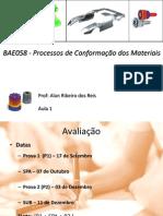 Bae058 - Processo de Conformacão Dos Materiais - Aula 1