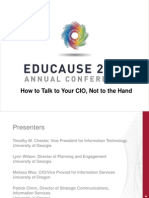 How to Talk to Your CIO, Not to the Hand (240998818)