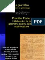 La-geometrie-1 L'Élaboration de La Géométrie Comme Science Mathématique