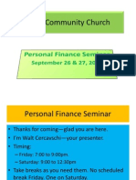 Bethel Personal Finance Sept 26-27