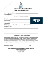 Beloit (WI) 2014 Holiday Parade Entry Form