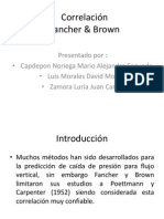 Correlación Fancher & Brown