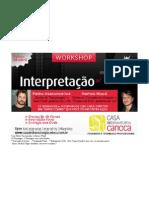 Workshop Interpretação para TV