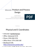 ME553 Product and Process Design Lecture 1