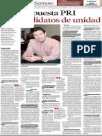 25-09-14 Apuesta PRI por candidatos de unidad.