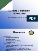 Recetas Coloniales