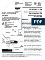 PROPOSED PLAN Madison Metropolitan Sewerage District Superfund Site