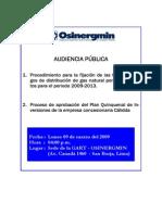 Hoja Informativa y Progarama Audiencia Cálidda 09-03-09