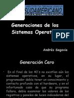 Generaciones de los sistemas operativos