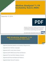 SAP Predictive Analysis 1.19 - PAM