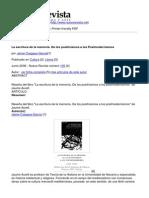 Nueva Revista - La Escritura de La Memoria. de Los Positivismos a Los Postmodernismos