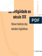 Introducao a Linguistica Historia 091101122753 Phpapp01