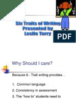 6 traits of writing