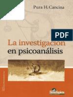 Pura Cancina - La Investigacion en Psicoanalisis