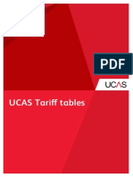 Ucas Tariff Tables 3
